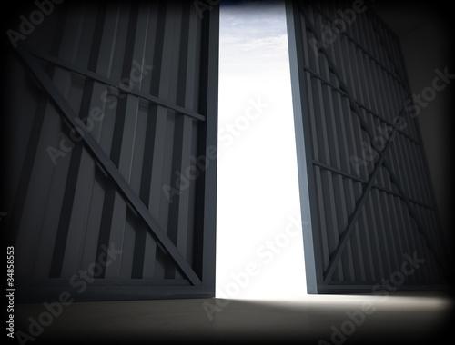 Obraz na płótnie hangar door