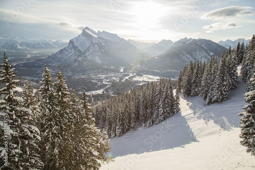 Banff Townsite from Mt Norquay