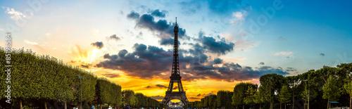 Eiffel Tower at sunset in Paris #85198584