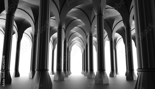 Photographie Black historic colonnade from columns