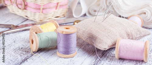 Fotografering Tools for sewing and crafts equipment