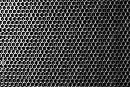metal mesh of speaker grill texture