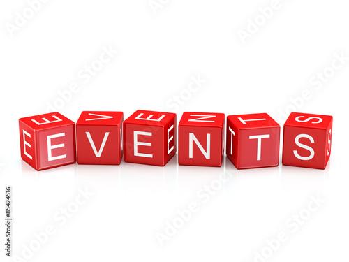 Events - Alphabet blocks isolated #85424516