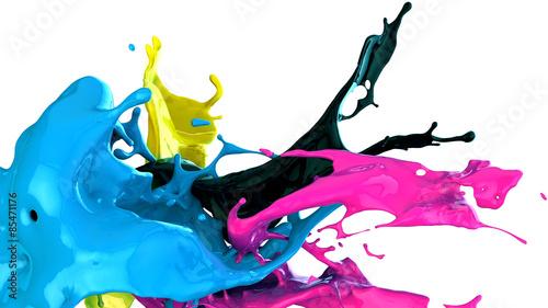 Plakat rozpryski farby