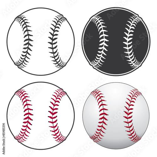 Canvas Print Baseballs