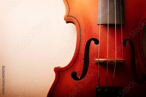 Fotografija Close Up of Waist of Wooden Violin