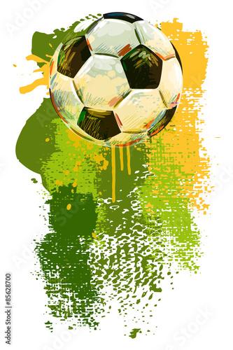 Obraz premium Banner piłki nożnej. Wszystkie elementy są w osobnych warstwach i pogrupowane.