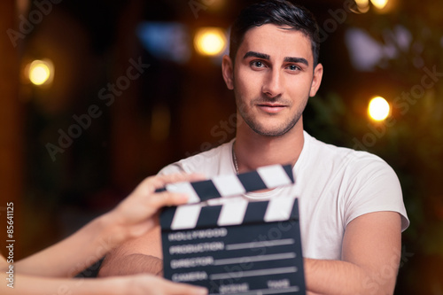 Professional Actor Ready for a Shoot Fototapeta