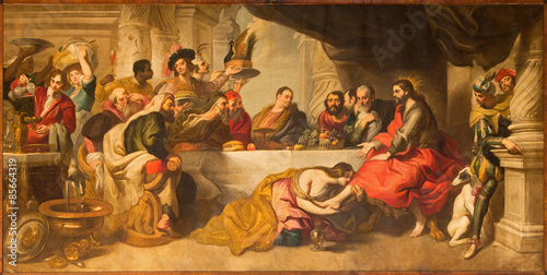 Obraz na plátne Malaga - The supper of Jesus by Simon the Pharisee paint