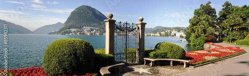 Lugano, Switzerland - View of the gulf from the botanical garden #85942311