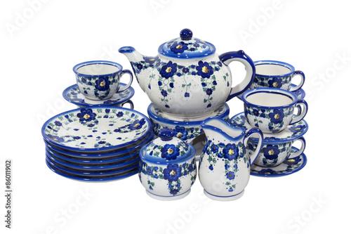 Fotografia Bolesławiecka ceramika zestaw