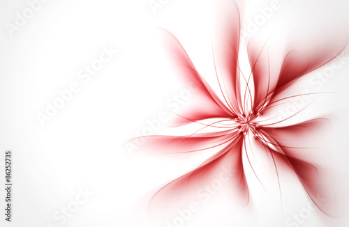 Red Flower Abstract Waves Background