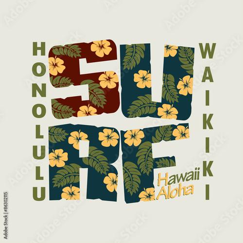 Surfing t-shirt floral print design #86302115