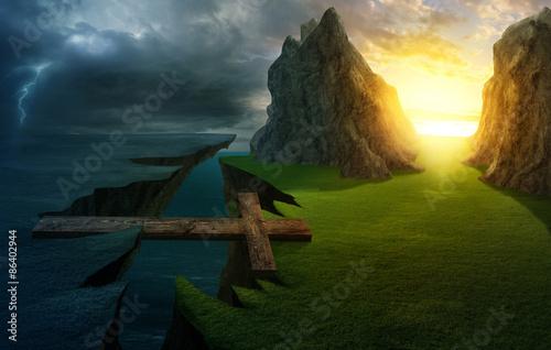 Fotografija Cross over the chasm