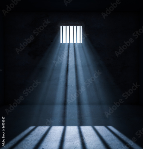 Canvas Print Light in prison cell