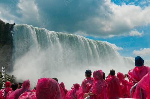 Photo Tourist at Niagara Falls, Ontario, Canada