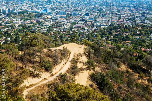 Obraz na płótnie The city of Los Angeles as seen from Griffith Park Observatory