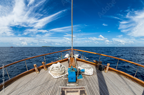 Stampa su Tela sailing boat on the ocean