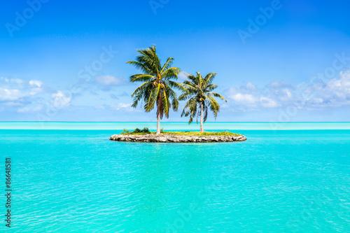 Urlaub auf einer einsamen Insel in der Südsee