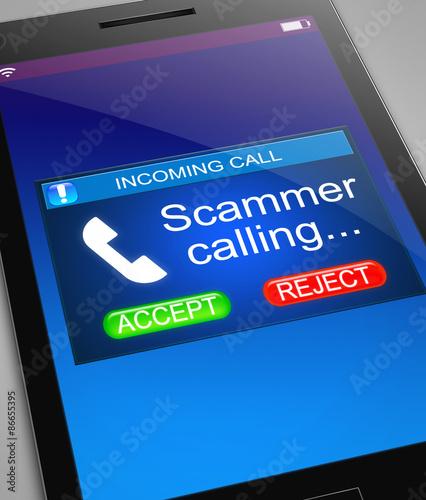 Fotografie, Obraz Scam caller concept.