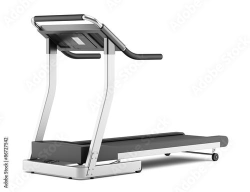 Fotografia treadmill isolated on white background