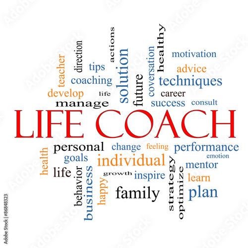 Life Coach Word Cloud Concept #86848323