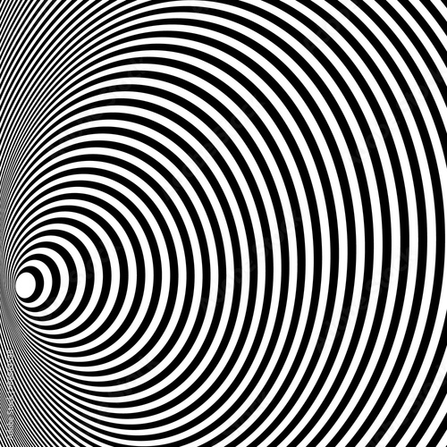 Opt Art Illustration for your design. Optical Illusion. Abstract background. Use for cards, invitation, wallpapers, pattern fills, web pages elements and etc.