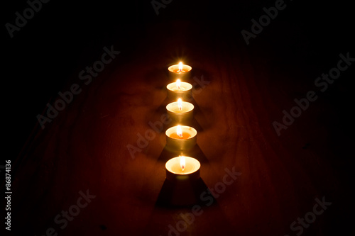 candele, meditazione, acqua