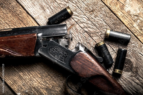 Obraz na płótnie Shotgun, Hunting, Gun.