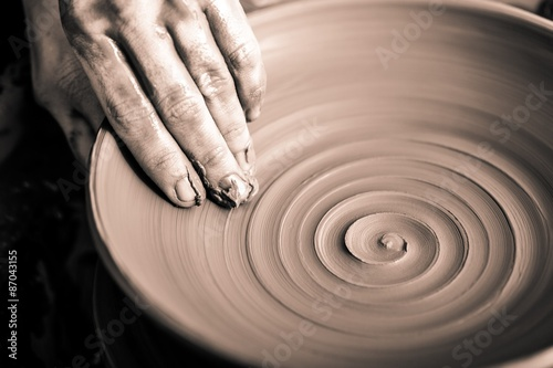 Pottery, Sculptor, Potter. Fototapeta