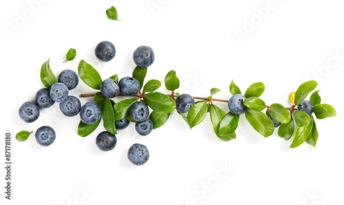 Foto Fresf blueberry, shot from above