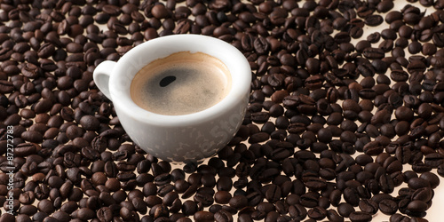 cup of coffee with beans #87272783