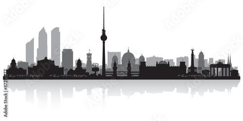 Canvas Print Berlin Germany city skyline silhouette