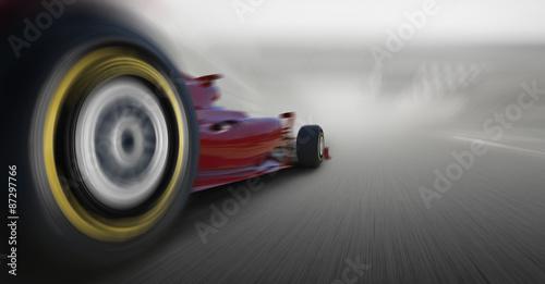 Fototapeta premium przekroczenie prędkości samochodu Formuły 1
