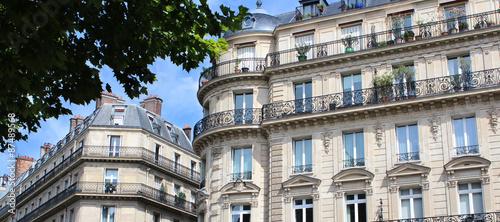 Valokuva Paris / Façades d'immeubles haussmanniens