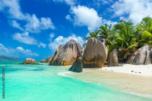 Fotografia Anse Source d'Argent - Beach on island La Digue in Seychelles