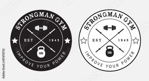 Photo Gym logo in black and white