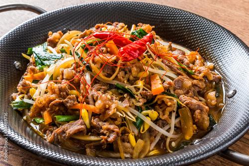 韓国風すき焼き プルコギ  Korean dish of grilled beef bulgogi