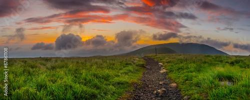 Fényképezés Sunrise on Round Bald Panorama