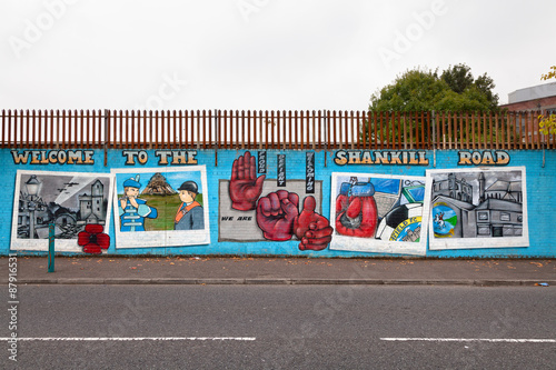 Stampa su Tela Welcome to Shankill Road mural, Belfast