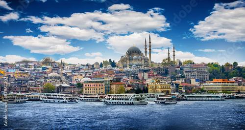 Obraz na plátně Istanbul the capital of Turkey, eastern tourist city.