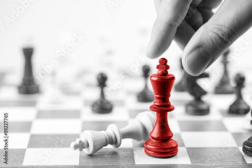 Obraz na plátně Šachy podnikatelský záměr, vedoucí a úspěch