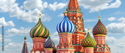 Canvas Print Moscow. St.Basil Cathedral