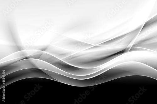 Fototapeta premium abstrakcja kreatywnych czarno-białe tło fali