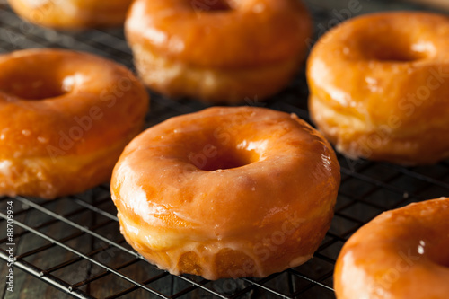 Homemade Round Glazed Donuts Fototapeta