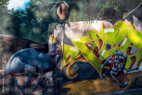 Fototapeta premium Graffiti: w biegu