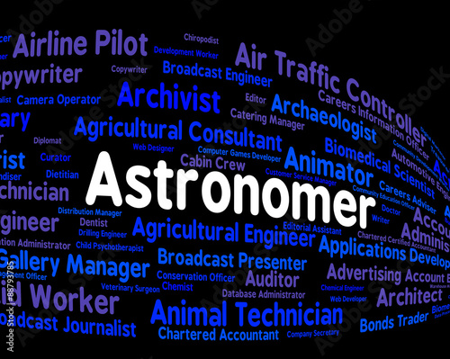 Wallpaper Mural Astronomer Job Shows Star Gazer And Astronomers
