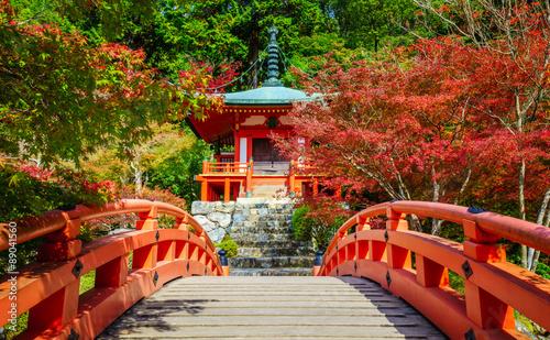 Fototapeta premium Świątynia Daigoji jesienią, Kioto, Japonia