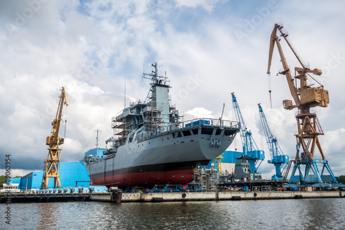 Fotografia Schiffsbau, Werft