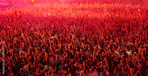 Blurred crowd at a concert #89100172